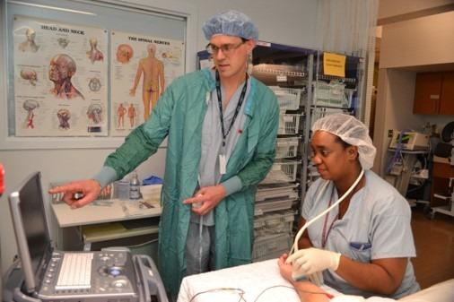 Dr. Hamstra training IOP learner